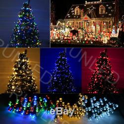 100-500 LED Solar Powered String Fairy Lights Lighting Outdoor Garden Xmas Party