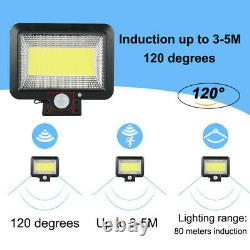 100 LED COB Solar Flood Wall Light Garden Security Spotlight Motion Sensor Lamp