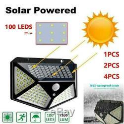 100 LED Solar Power PIR Motion Sensor Outdoor Wall Lights Garden Security Lamps
