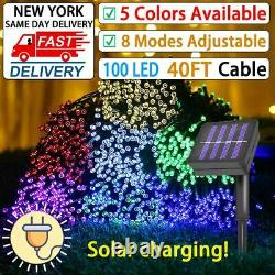 100 LED String Solar Light Outdoor Garden Xmas Party Fairy Tree Decor Lamp 40FT