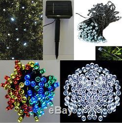 100 Outdoor Led Solar Garden String Fairy Lights Rechargable Solar Powered