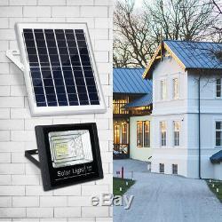 10/25/45/65W Solar Power LED Street Flood Light Outdoor Garden Wall Lamp