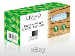 10 Led Solar Powered Rechargeable Garage Shed Light Garden Outdoor Security