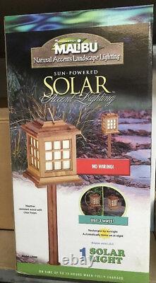 (12) Intermatic Malibu LED Outdoor Solar Yard Landscape Garden 28 Pagoda Light