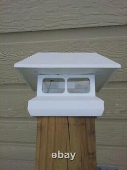 12 PACK 4 in. X 4 in. White Solar-Powered Post Cap Light for Deck or Fence