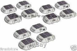 12 Pc Solar Powered Pathway Markers LED Light Patio Garden Driveway Sidewalk New