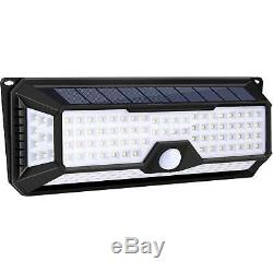 136 LED Solar Powered PIR Motion Sensor Wall Security Light Lamp Garden Outdoor