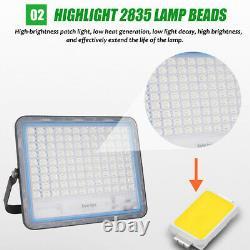 150/200/300/400W LED Solar Panel Wall Lights Garden Security Lamp Floodlight #