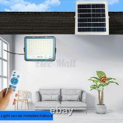 150/200/300/400W LED Solar Wall Light Sensor Yard Light Garden Floodlight Remote