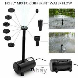 15W 1350L/H Solar Power Submersible Water Fountain Pump LED Remote Garden Pool