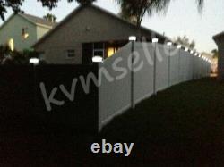 18 PK 2SMD Outdoor 4X4 Garden Solar Copper Post Deck Cap Square Fence Light 244A