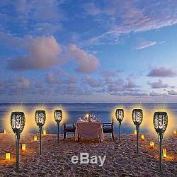 1-10pcs True flame Solar Torch Light Warm white LED flickering stake garden Lamp