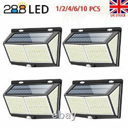 288 LED Solar Powered PIR Motion Sensor Lights Outdoor Garden Security Wall Lamp