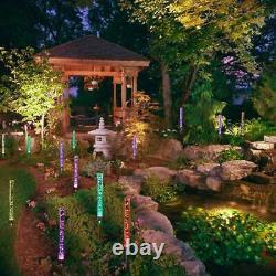 2PCS Solar Powered Garden Stake RBG Lights for Patio Backyard Pathway Decoration