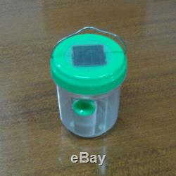 2V 40mA UV LED Solar Insect Trap Lamp Light Green For Garden Living Room Home
