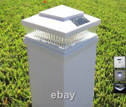 2-Pack Garden White 6 X 6 Solar 5 LED 78Lumens Plastic Wood Fence Post Cap Light