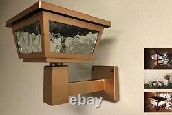 2 Pack Solar Post Cap Deck Fence Wall Mount LED Lights 4x4 5x5 6x6 Copper Color