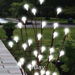 2 pack 61cm Garden LED Twig Lights Solar Tree Lights Decor Lighting Outdoor New