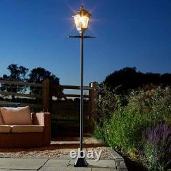 2x 2m Solar Powered LED Victorian Style Lamp Posts Traditional Outdoor Decor