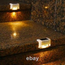30X4Pcs LED Solar Path Stair Lights Outdoor Garden Yard Fence Wall Landsca Q0T2