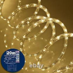 30m Warm White Soft Rope LED Stripe Light Waterproof Garden Outdoor Indoor Party