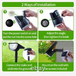 32 LED Landscape Solar Power Outdoor Garden Path Solar Spot Light Waterproof