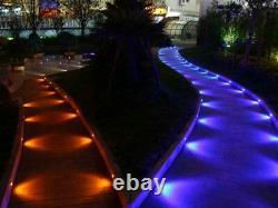 35mm Black Half Moon WIFI RGB Garden Outdoor Yard Plinth Path LED Deck Lights