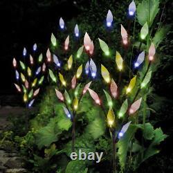 3Pcs Garden Ornamental Lighting 60 LED Multi Color Leaf Tree Solar Light
