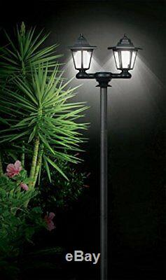 3 In 1 Solar Power Powered Garden Lamp Post Wall White Led Light Xmas Gift New