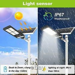 400W Solar Street Flood Light Outdoor NIORSUN Motion Sensor Dusk to Dawn Sola