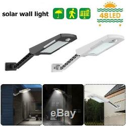 48LED Waterproof Solar Power Light PIR Motion Sensor Garden Outdoor Wall Lamp