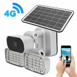4G 1080P HD Solar IP Camera Security CCTV Outdoor Garden Light Motion Detection