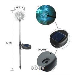 4 / 2PCS LED Solar Powered Garden Stake Lights For Patio Backyard Lamp Home