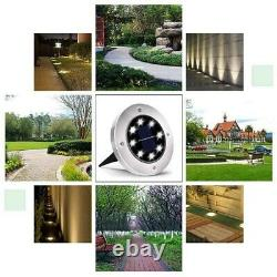 4/8pcs LED Solar Power Ground Lights Floor Decking Outdoor Garden Lawn Path Lamp
