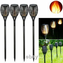4 Pack 96 LED Flickering landscape Lamp Dancing Flame Solar Torch Garden Light