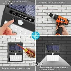4 X 50LED Solar Sensor Flood Lights Wall Outdoor Garden Path Fence Lamp Security