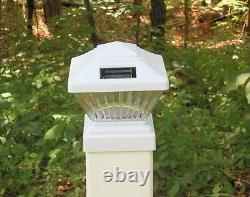 4 X Solar Power Path Deck Post Cap Light Fence Mount Lamp White 4x4