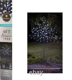 4ft LED Solar Powered Blossom Tree Add Twinkling NighTime Feature In Your Garden