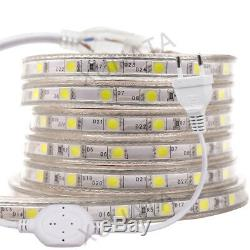 5050 LED Strip AC220V 240V 60LED/m Waterproof IP65 Garden Decking Kitchen Lights