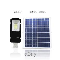 50W Waterproof LED Solar Power Street Light Road Lamp Outdoor Security Garden