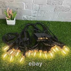 5x 48FT Solar Power Party Bulb Festoon String Lights Outdoor Garden Decoration