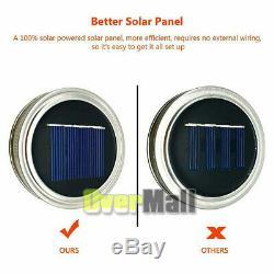 60Pack Solar Powered Mason Jar Lid 20 LED Fairy String Lights Party Garden Decor