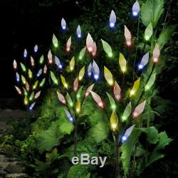 60 LED Branch Light Ornamental Solar Powered Outdoor Garden Multi Colour Pack 3