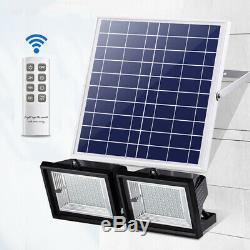 60 LED Solar Power Flood Light Outdoor Garden Security Wall Street Lamp +
