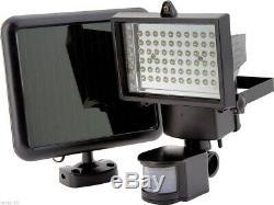 60 Led Solar Security Floodlight Lamp Garden Outdoor Flood Light Pir Motion Sens