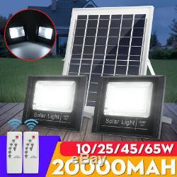 65W Solar Panel Wall Light Outdoor Garden Street Lamp Solar Flood Lamp
