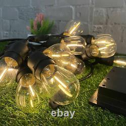 6x 48ft 16pcs LED Bulbs Solar Outdoor String Lights Festoon Party Yard Garden UK