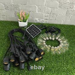 6x 48ft Solar LED Bulb Festoon String Lights Garden In/Outdoor Light Chain Party