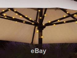 72 Led Parasol Umbrella Chain Chaser Light Garden Solar Power 8 Strut Lights
