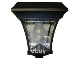 77 H Solar Powered Lamp Post Vintage Street Light with 4 Super Bright LEDs
